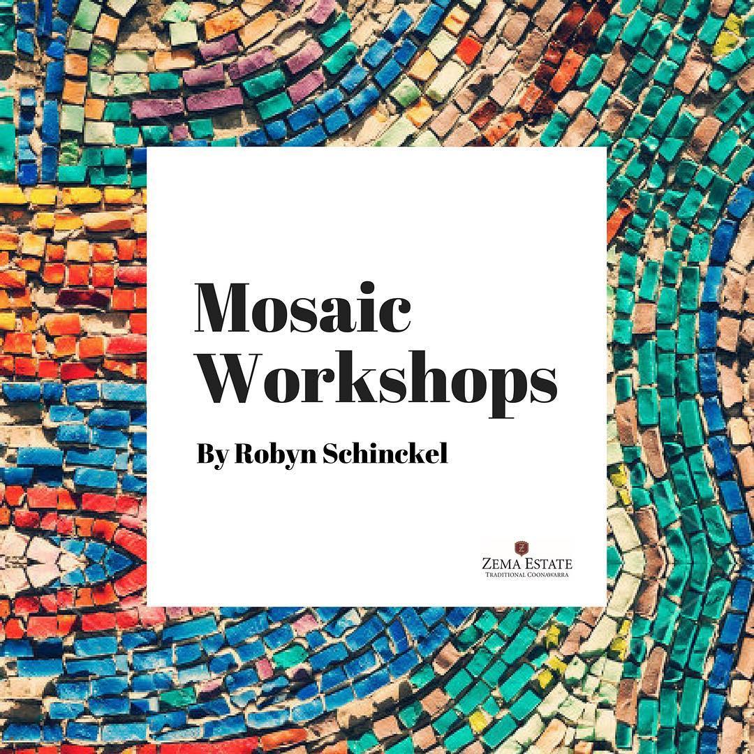 pc arts festival robyn schinckel mosaic workshop coonawarra vignerons